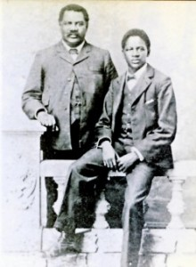 John Tengo Jabavu and his son Davidson.
