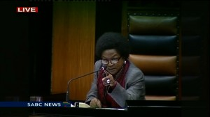 Speaker of Parliament's National Assembly Baleka Mbete.