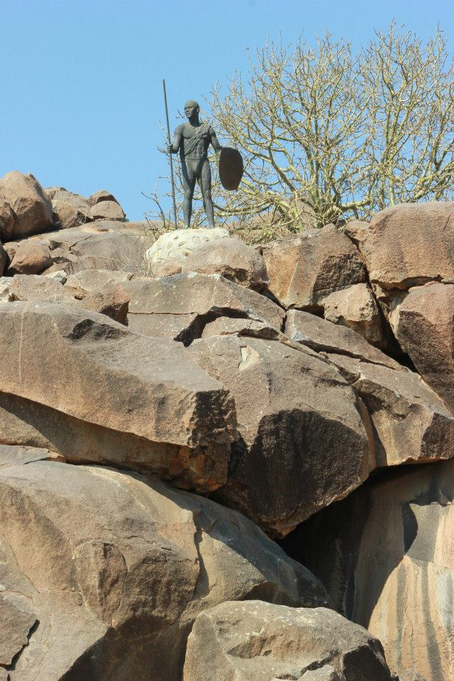 King Sekhukhune standing guard over the koppie where he fought off colonial incursion for many years.