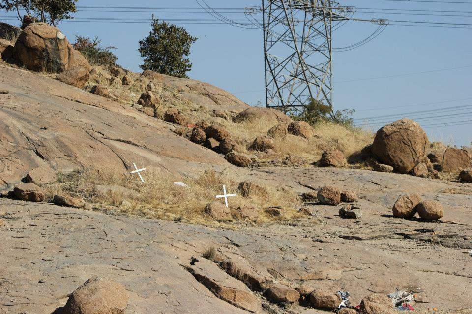 The Wonderkop Hill in Marikana, now another memorial to the fallen in the battle against social injustice.
