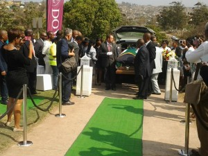 A moving ceremony in Kwa Zulu Natal laid to rest Nat Nakasa's remains.