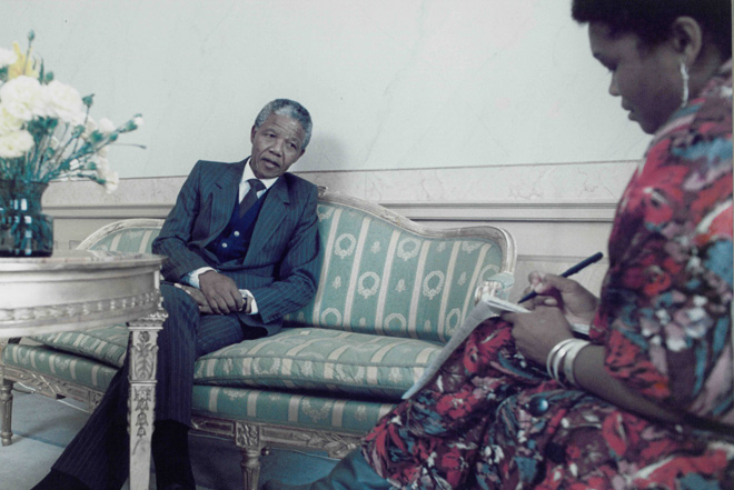 Interviewing Mandela Sweden 1990