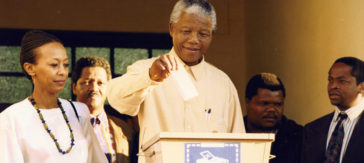 mandela voting