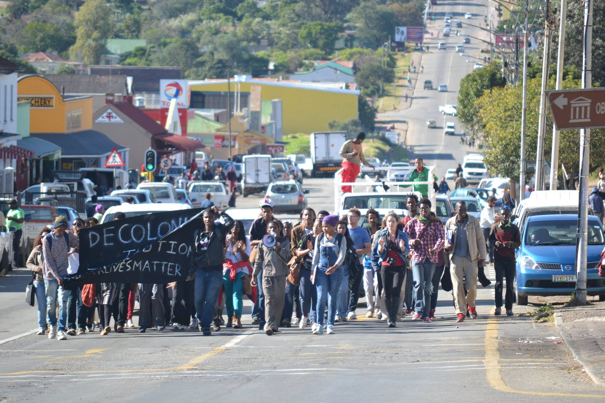 BSM protests in Grahamstown a few weeks ago image by Xolile Madinda