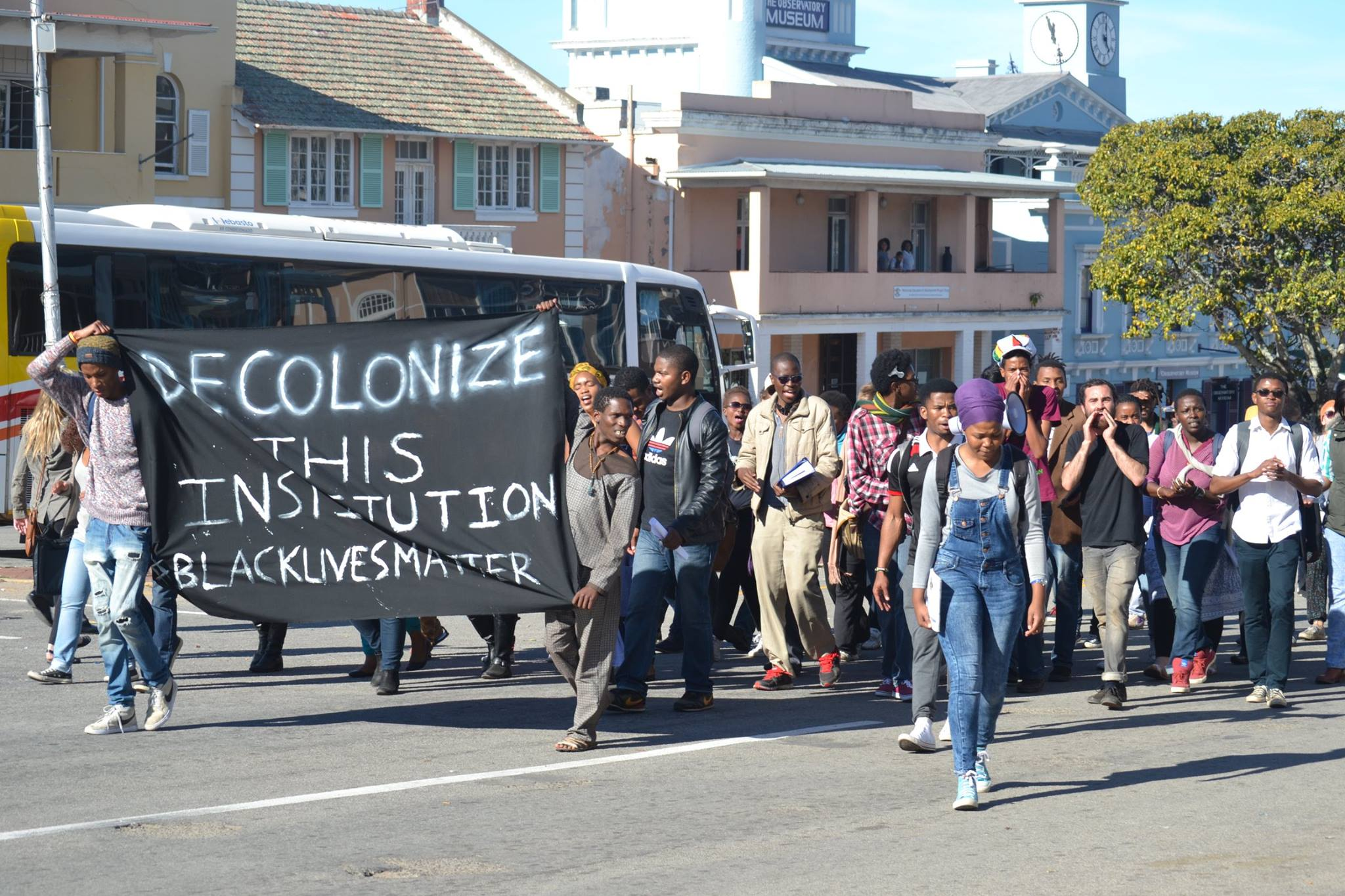 BSM protests in Grahamstown image by Xolile Madinda