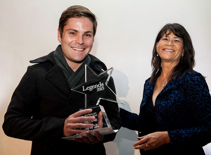 Eduan Roos Journalist of the Year
