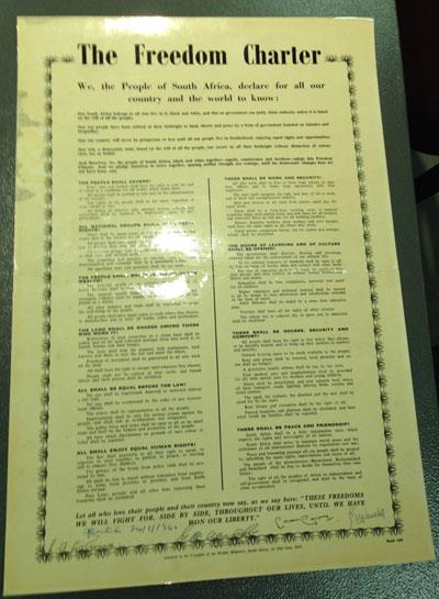 Original Freedom Charter