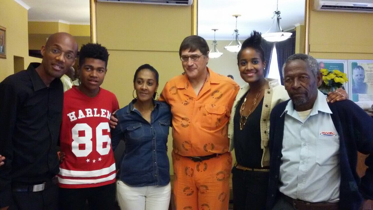 Candice Mama and her family meet Eugene de Kock