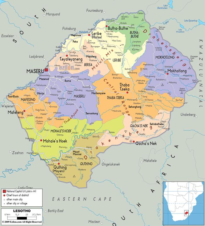 lesotho-map
