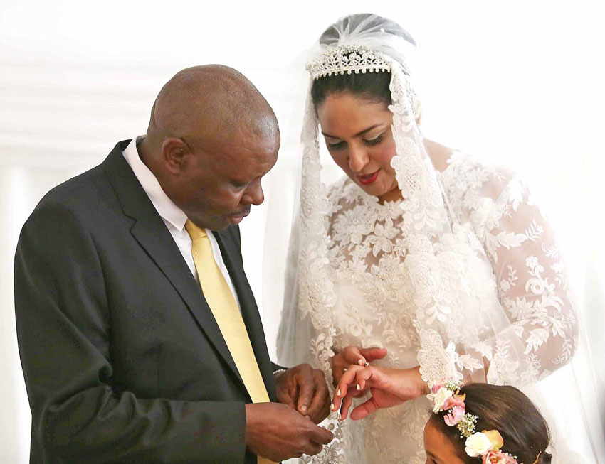 Western Cape High Court Judge President, John Hlophe, marrying fellow judge Gayaat Salie-Samuels.