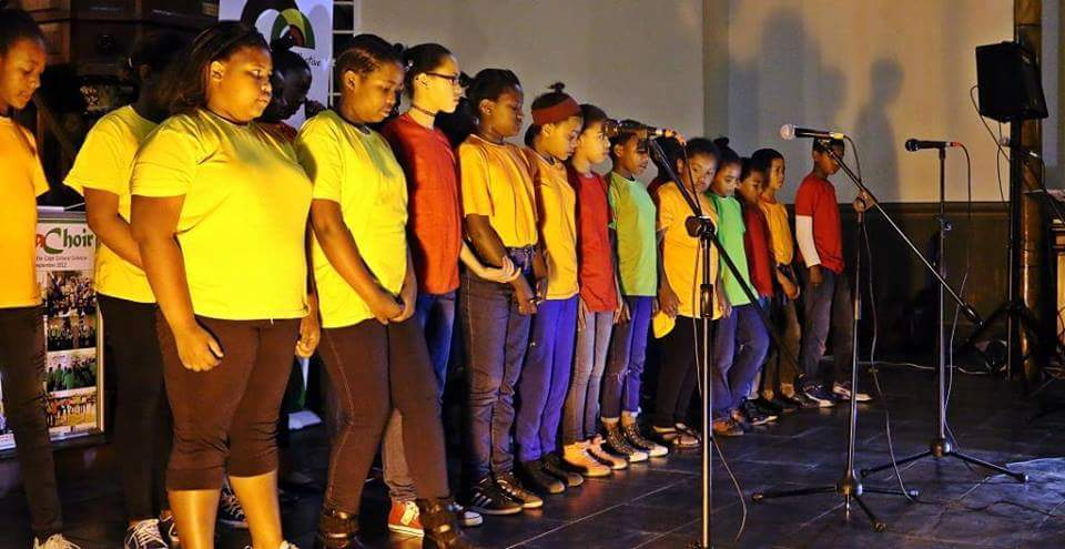 The Junior Rosa choir during a performance at the Slave Church in 2016