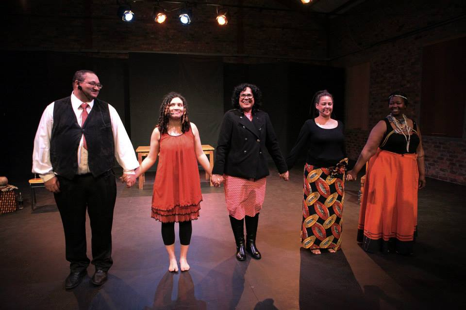The cast of Uhadi that performed in Paris in 2013